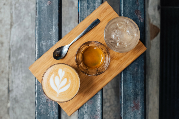 Coffee, juice, and water cup—all full | Sparkhouse blog