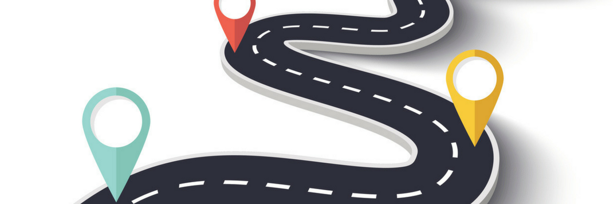 Picture of a road with three markers—or, if you prefer, a roadmap with six tips for Holy Week | Sparkhouse Blog