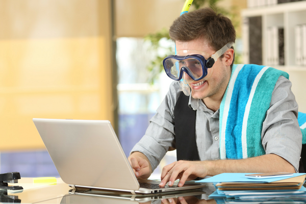 Elite Eight Vacation vs. Messy Office Image | Sparkhouse Blog