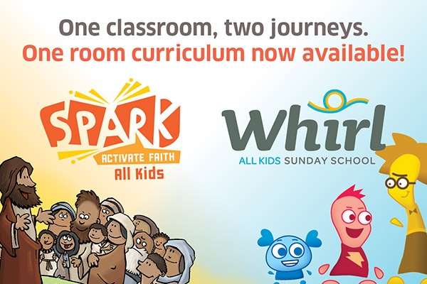 Spark: Activate Faith All Kids and Whirl All Kids logos | Sparkhouse Blog