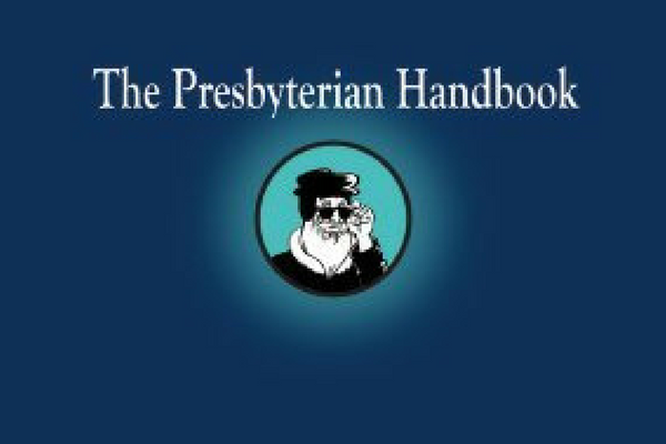 "The original ""Presbyterian Handbook"" cover 