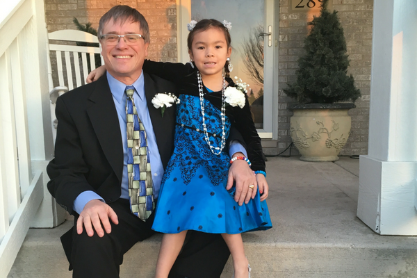 David Schoenknecht with his granddaughter | Sparkhouse blog